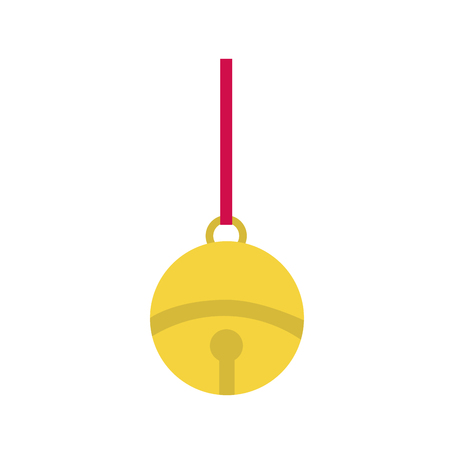 Bell sphere of ring alert and decoration theme Isolated design Vector illustration