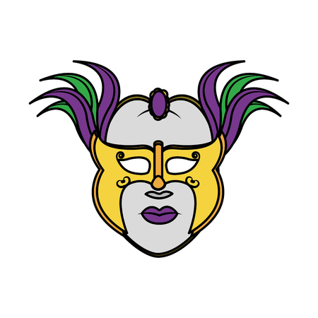 Mask of masquerade carnival costume and party theme Isolated design Vector illustration Ilustracja