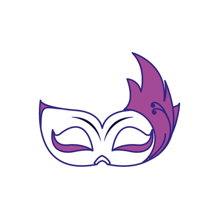 Mask of masquerade carnival costume and party theme Isolated design Vector illustration Ilustração