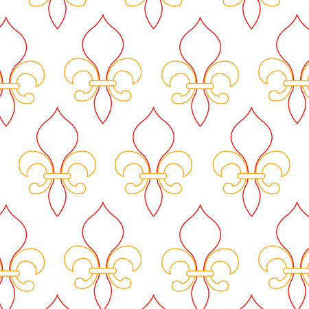 Lis flower of vintage antique and decoration theme Isolated design Vector illustration Illustration