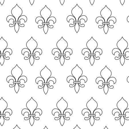 Fleur-de-lis pattern. Illustration