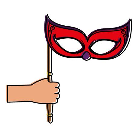 Mask icon. Illustration