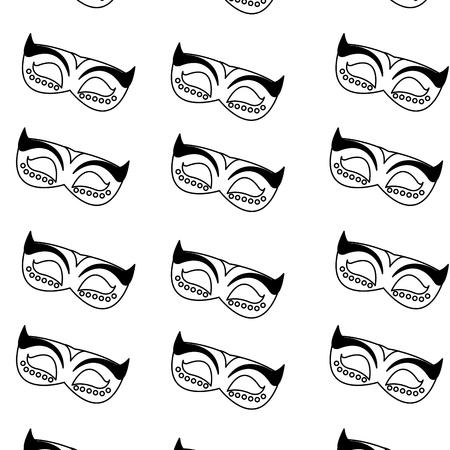 Isolated mask design vector illustration. Illustration