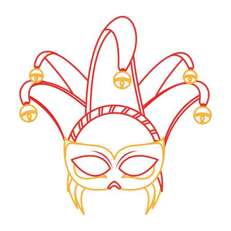 Isolated mask design Illustration