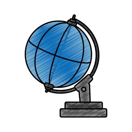 Global sphere design on white background Иллюстрация