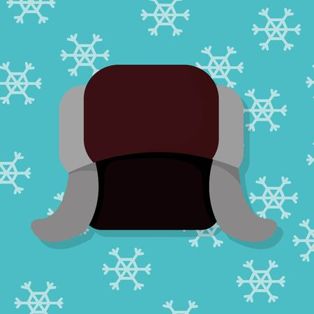 Winter hat clothes object to cold weather vector illustration  イラスト・ベクター素材