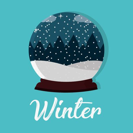 Snow globe icon.