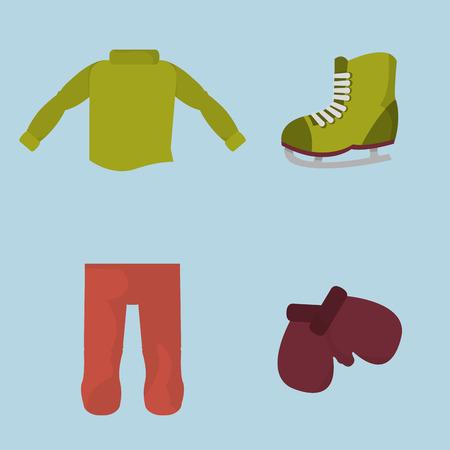 冬寒い気候のベクトル図の男の子の服。