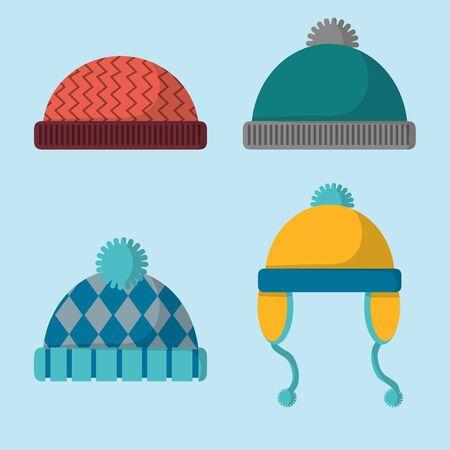 Winter hats icon. Illustration