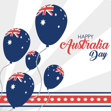 Australia day vector illustration