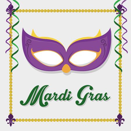 Mask of mardi gras carnival and festival theme Vector illustration Illustration
