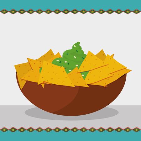 Mexican food nachos design