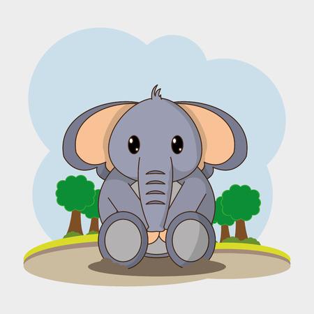 Elephant cartoon design.