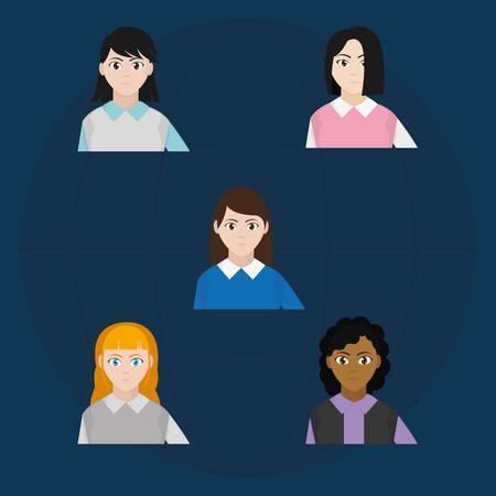 Avatar women design Illustration