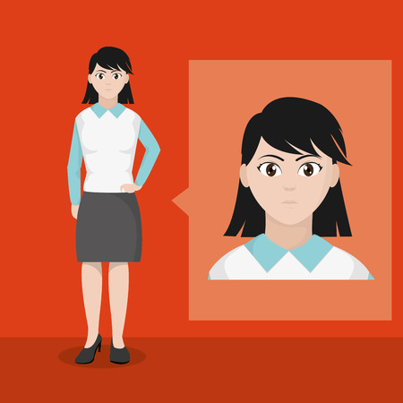 Avatar woman of diversity people and multiracial theme Vector illustration
