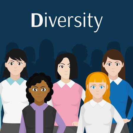 Avatar women design Stock Illustratie