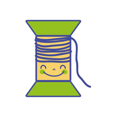 ラインカラー可愛いかわいい幸せな糸オブジェクトベクトルイラスト
