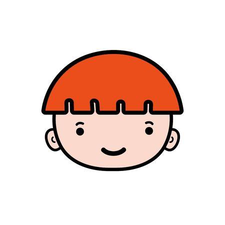 avatar boy head with light brown hair