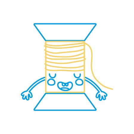 シルエット可愛いかわいい面白い糸オブジェクトベクトルイラスト。
