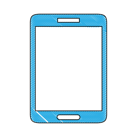 grated smartphone mobile to call and talk communication vector illustration