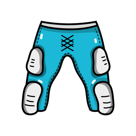 thigh and knee pads to protection clothes vector illustration Illustration