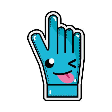 funny and cute glove sportwear kawaii vector illustration 일러스트