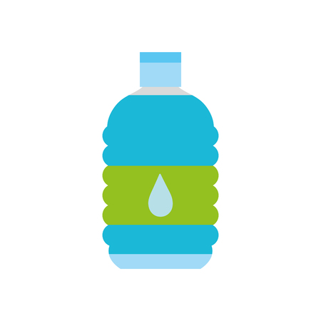 colorful water bottle to drink and healthy liquid vector illustration Vectores