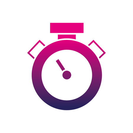 Silhouette of chronometer object to know the time measure vector illustration.
