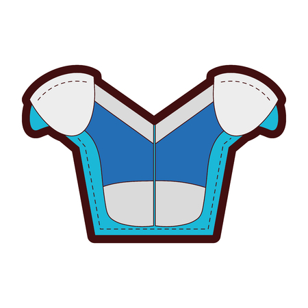 line color shoulder pads protection to play american football Illustration