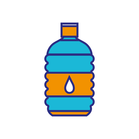 full color water bottle to drink and healthy liquid Illustration