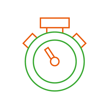 Colored line chronometer object to know the time measure vector illustration. Illustration