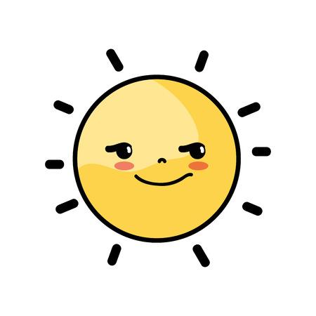 rogue and cute sun kawaii weather Illustration