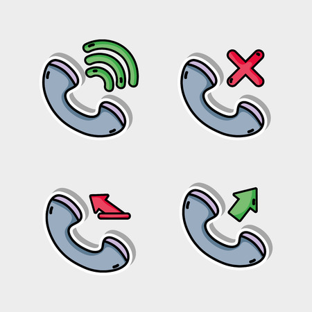 set call mobile icon message