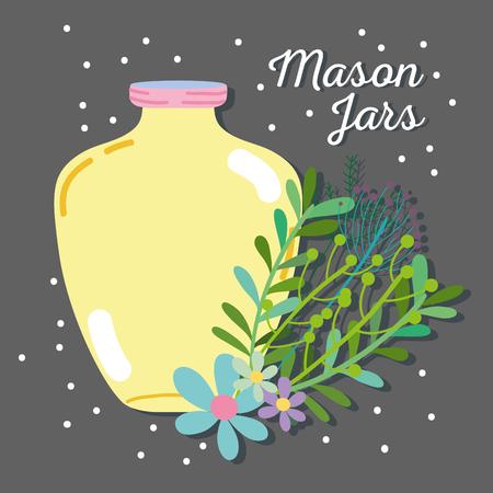 Jar mason rustic style preserve.