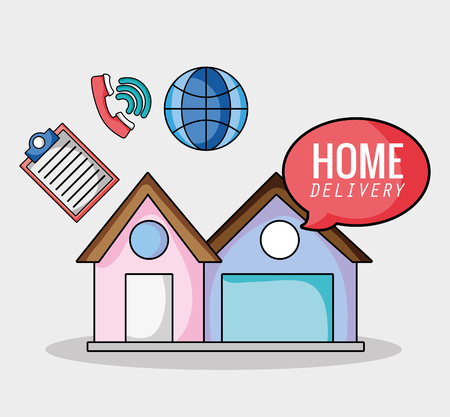express delivery service business shipping vector illustration