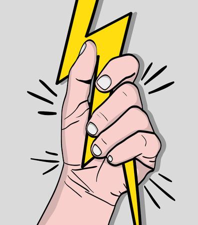 strong power hand protest revolution vector illustration