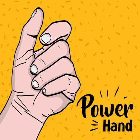 sprong power hand protest revolution vector illustration Ilustrace