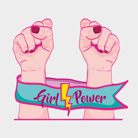 Strong power hand protest revolution vector illustration Illustration