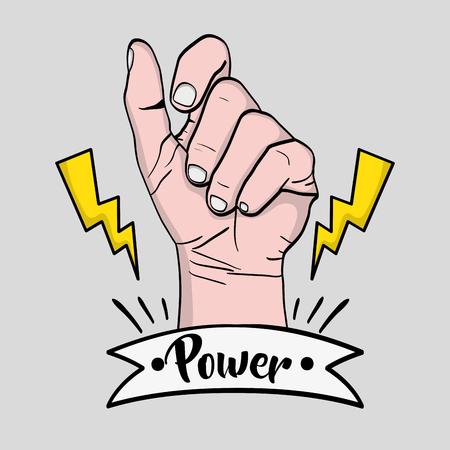 Strong power hand protest revolution vector illustration Illustration