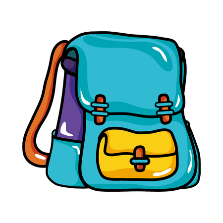 학교 배낭 교육 개체 디자인 벡터 일러스트 레이션