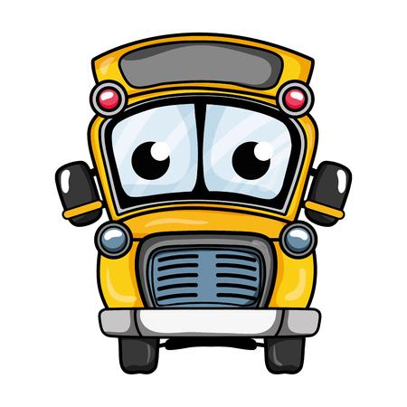 cute and tender school bus vector illustration