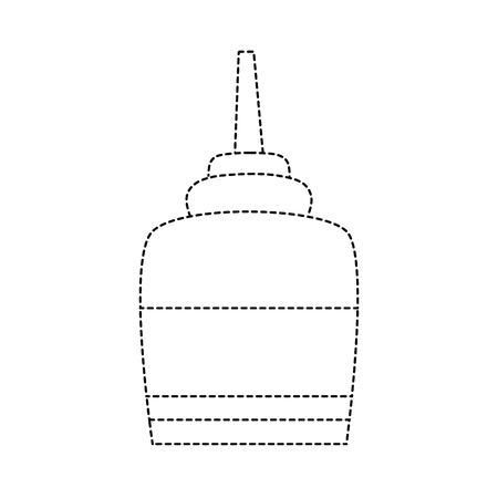 dotted shape glue object school education design vector illustration Ilustração