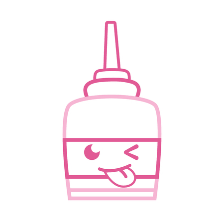 Color line funny and cute glue object vector illustration