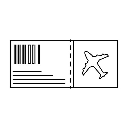 Line airplane ticket travel to vacation tourism.
