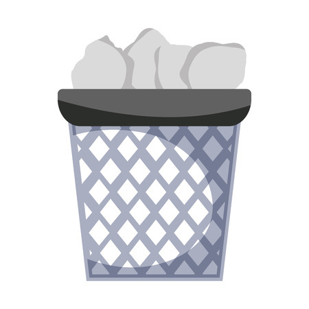 Office paper trash, recycle, document vector illustration