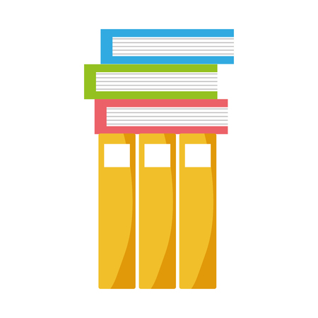 Education books to learn and study vector illustration Çizim
