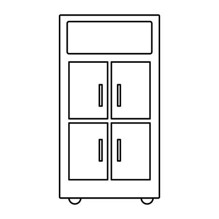 Line office cabinet archive file organization vector illustration