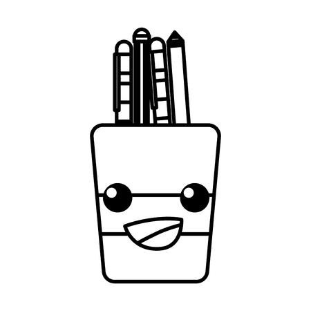 Happy tools cup kawaii cartoon