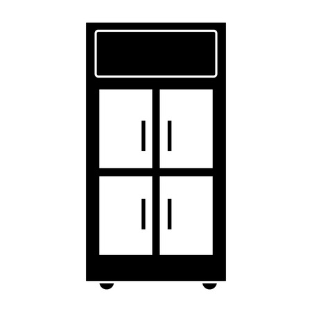 contour office cabinet archive file organization vector illustration
