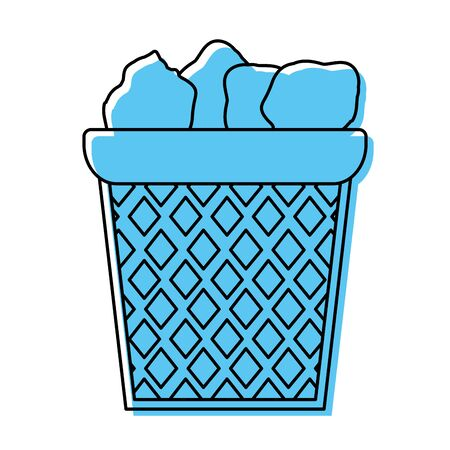 A color office paper trash recycle document vector illustration